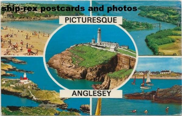 Anglesey, multi-view postcard (a)